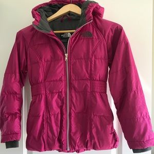 Like New- Girls The North Face Parka- Small, 7/8